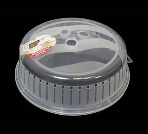 Microwave Cover Plastic Food Plate Cover Vented Clear Plate Cover 26cm D10506 (Parcel Rate)