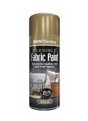 Paint Factory Flexible Fabric GOLD Paint Suitable For Leather Vinyl And Most Fabrics 200ml 1067 (Parcel Rate)