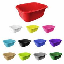 Load image into Gallery viewer, 1 Kitchen Washing Up Bowl Square Available In Assorted Colours Lunex 11 Litre LL5500 (Parcel Rate)
