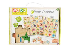 Wood Works Childrens Floor Puzzle Educating Kids Puzzle 26 Pack 2341 (Parcel Rate)