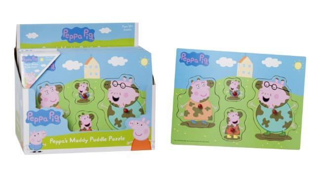 Peppa Pig Childrens Toddlers Wooden Jigsaw Puzzle 18 Months+  2961 (Parcel Rate)
