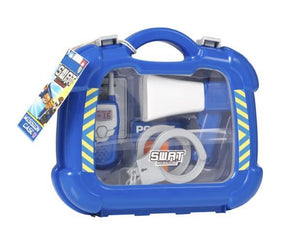 Swat Mission Kids Boys Pretend Playing Police Briefcase Full Set Blue 2401 (Parcel Rate)