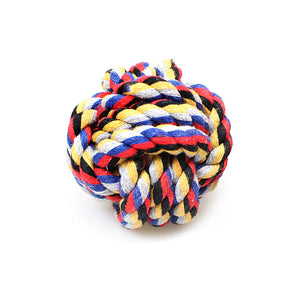 1 Pc Chewing Teething Pet Dog Rope Ball 0049 (Parcel Rate)