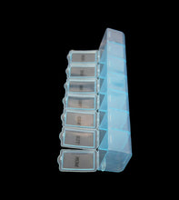 Load image into Gallery viewer, 7 Day Pill Box Plastic Tablet Weekly Organiser Dispenser 3 Colours Blue/White/Pink 2036 (Large Letter Rate)