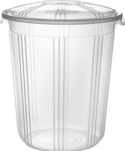 Load image into Gallery viewer, Clear Plastic Bucket With Lid Carry Handle Storage Container Box Bin 59 Litre AK249/RB59  (Big Parcel Rate)
