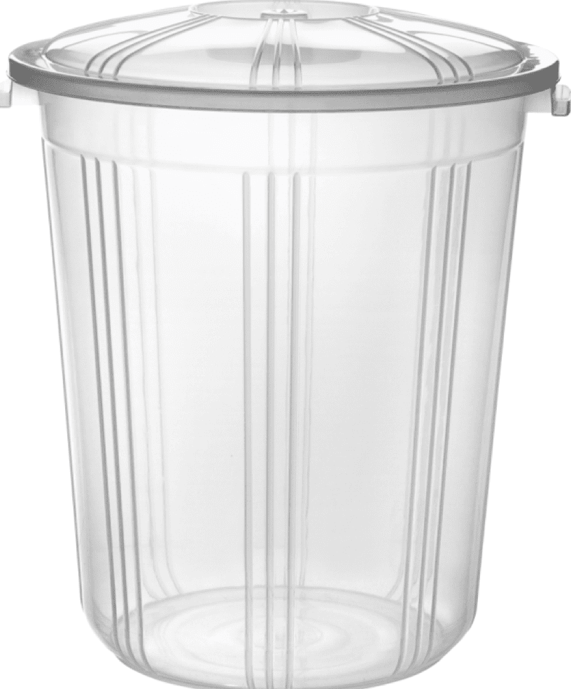 Clear Plastic Bucket With Lid Carry Handle Storage Container Box Bin 59 Litre AK249/RB59  (Big Parcel Rate)
