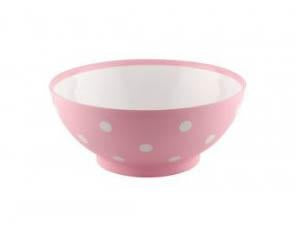 Hobby Round Spotty Salad Snacks Serving Bowl Pink 0.35 Litre 2281 (Parcel Rate)