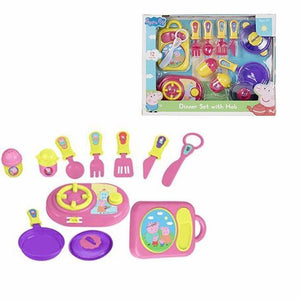 12 Pc Childrens Peppa Pig DINNER SET with HOB 4961 (Large Letter Rate)
