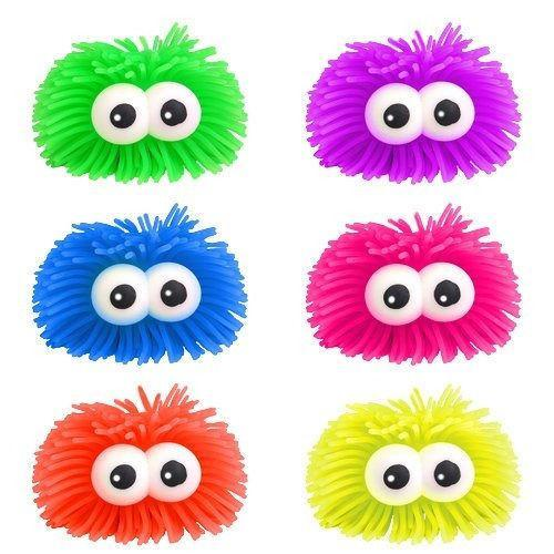 2 x Bulging Eyes Stress PUFFER BALLS -Squidgy Ball, Squeeze, Play Sensory Toy  1496 (Parcel Rate)