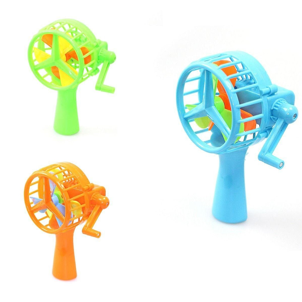 Hand Held Wind Up WHEEL FAN (Large Letter Rate)