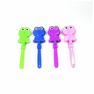 4 x Frog Hand Clappers Party Bags Party Games Travel Toys 1083 (Parcel Rate)