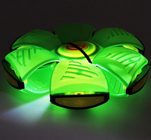 Childrens LED PHLAT BALL -Throw a Disc, Catch a Ball & LED Lights Press Together  3017 (Parcel Rate)
