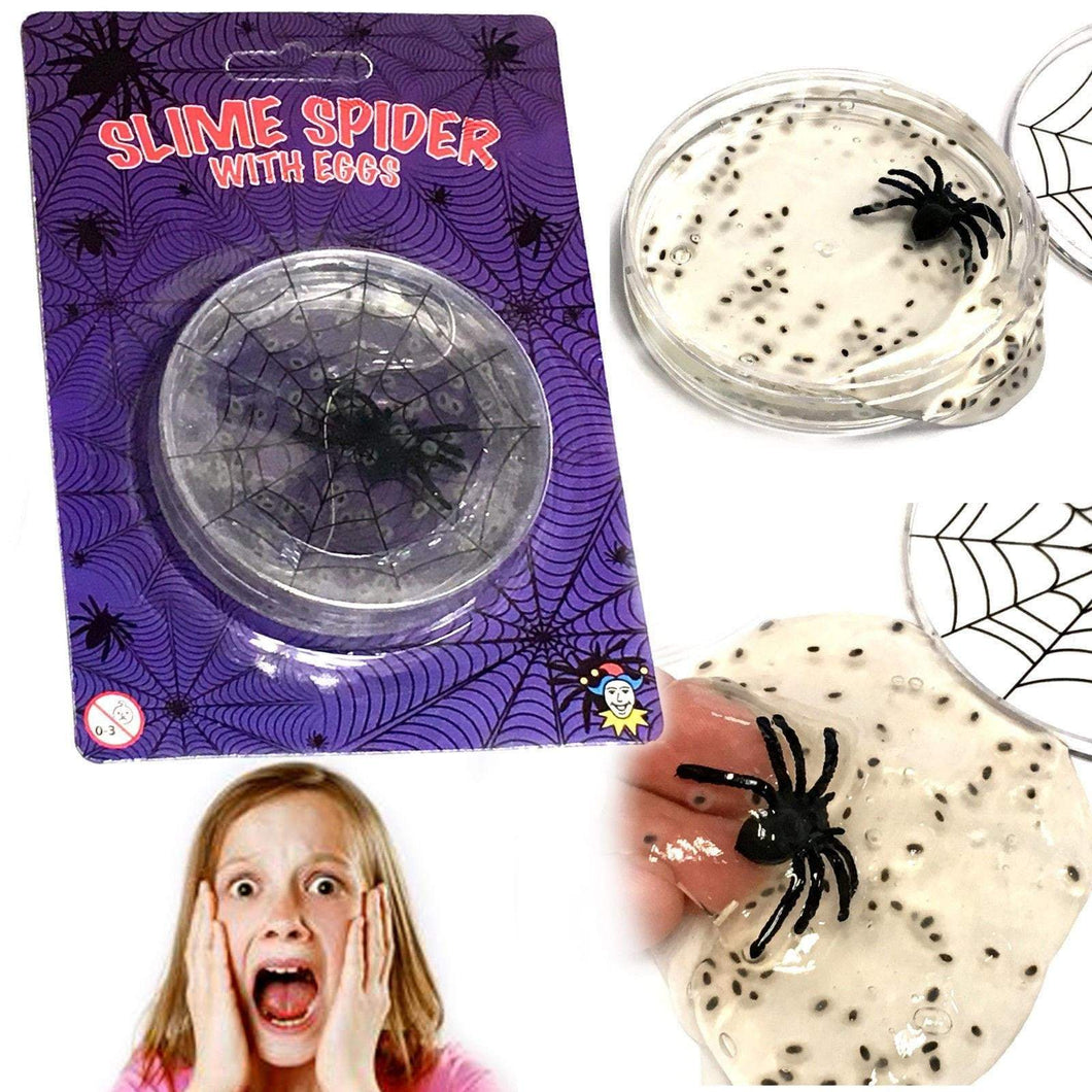 Slime Spider With Layed Eggs Gooey Texture Childrens Fun Game 1 Pack (Large Letter Rate)