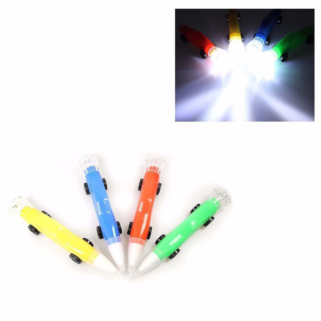 Racing Car Ballpoint Pens With Led Torch 5760 (Parcel Rate)