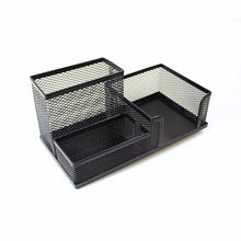 Load image into Gallery viewer, Mesh Desk Organiser Pen Pencil Stationery Holder Black/ Silver Desk Organiser 0020 (Parcel Rate)