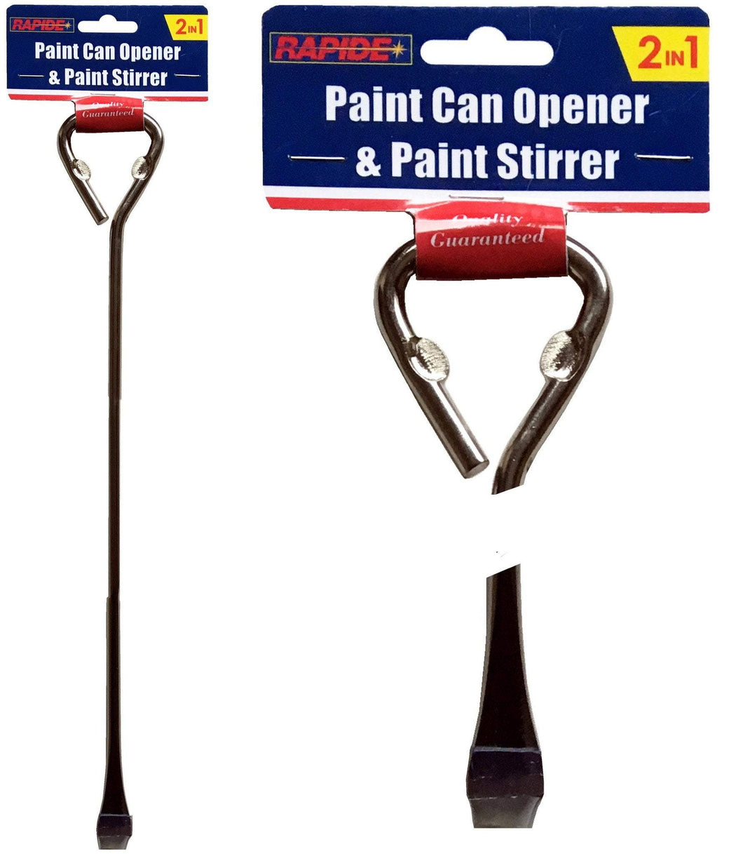 Rapide 2 In 1 Metal Paint Can Opener & Stirrer Diy Home 2432 (Parcel Rate)