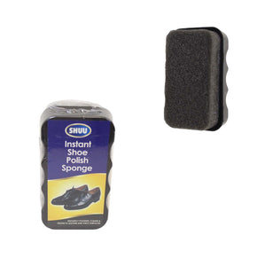 SHUU Instant Shoe Polish Sponge Instantly Polishes Cleans Protects 10cm x 6cm 2477 (Parcel Rate)