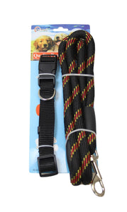 Pets Cats Dog Neck Belt Harness and Lead Assorted Colours Outdoor Fun x 1 2516 (Parcel Rate)