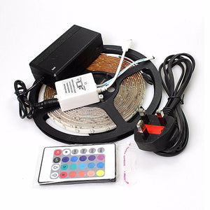 12v LED STRIP LIGHTS REEL-IR Remote Control, Adapter, Christmas, Weddings, Party  0904