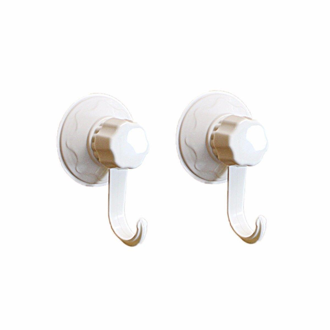 Pack Of 2 Magic Suction Cup Hooks Use On Glass Tile Max Load 5kg No Screws Or Drill Needed 3021 (Large Letter Rate)