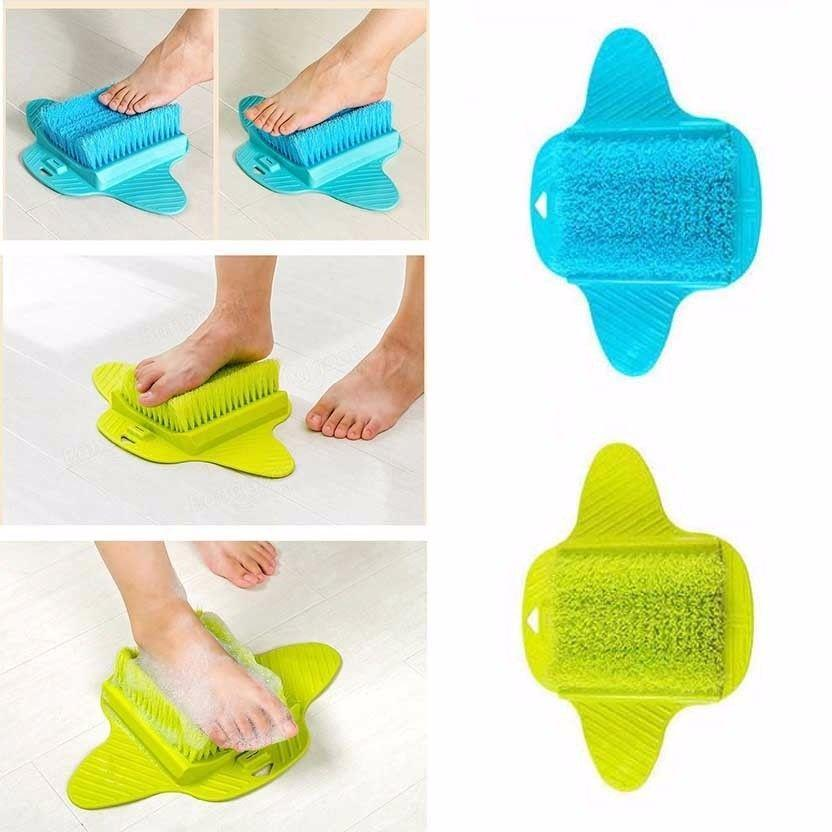 Bathroom Non Slip Suction Exfoliating Foot Brush Soft Bristle Foot Massage Brush 4509 (Parcel Rate)