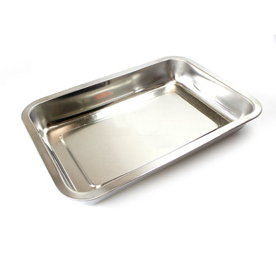 Home Baking Steel Roasting Pan Dish Cooking Lasagne Cake Rectangle Dish 32cm x 22cm 6103 (Parcel Rate)