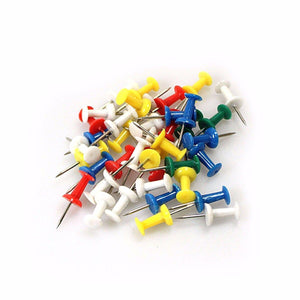 Assorted Pack BOARD TACKS -Coloured MAP Pins, Noticeboard Marker Push Pins   2192 (Large Letter Rate)