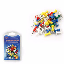 Load image into Gallery viewer, Assorted Pack BOARD TACKS -Coloured MAP Pins, Noticeboard Marker Push Pins   2192 (Large Letter Rate)