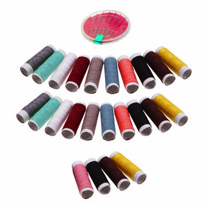 Pack Of 24 Colour Cotton Reel Sewing Threads With Pins Random Colours Sent 4109 (Parcel Rate)