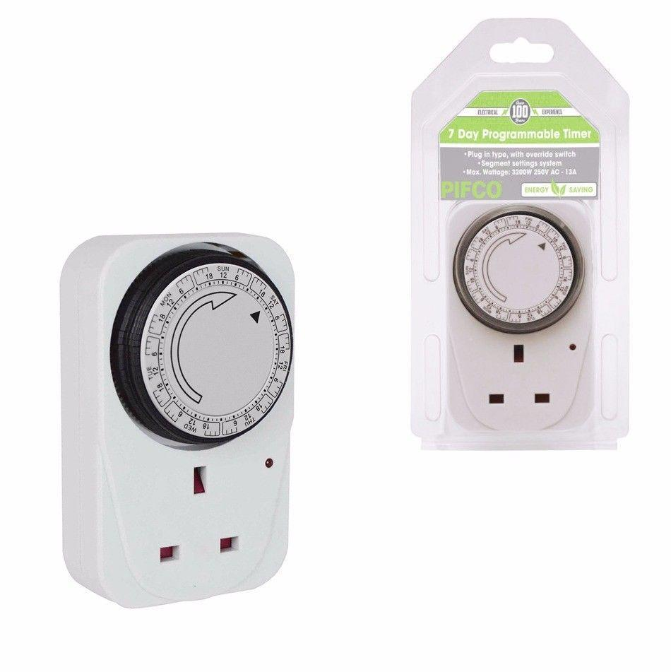 Pifco Electrical Timer Socket 7 Day Programmable 3200W 250V AC-13A  0741 (Parcel Rate)