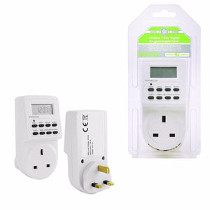 PIFCO ES113 Electronic Digital Mains Timer Socket Plug-In with 12/24 Hour 7 Days   TMR1009 (Parcel Rate)