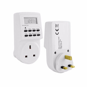 PIFCO ES113 Electronic Digital Mains Timer Socket Plug In With 24 Hour 7 Days TMR1009 (Parcel Rate)