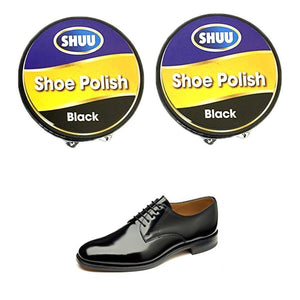 2 Pack Polish Black High Quality General Use Shoe Polish 5355 (Parcel Rate)