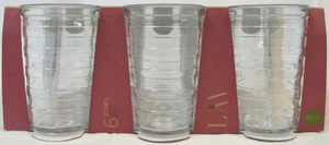 6 Pack LAV Stripe 200cc -6 3/4oz Glasses STR613E (Parcel Rate)