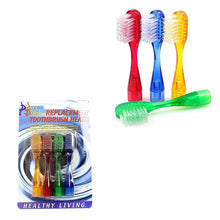 Load image into Gallery viewer, New Replacement Toothbrush Heads Soft Bristle Pack of 4 Assorted Colours   0867 (Large Letter Rate)
