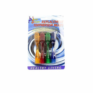 New Replacement Toothbrush Heads Soft Bristle Pack of 4 Assorted Colours   0867 (Large Letter Rate)