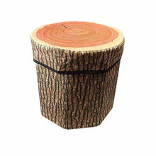 Load image into Gallery viewer, Wood Footstool Footrest Ottoman Pouffe Stool Chair Stump Style 4656 (Parcel Rate)
