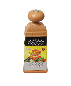 Kitchen Multipurpose Use 4 Sided Grater Ideal Food Prep Wooden Handle Grater 3140 (Parcel Rate)