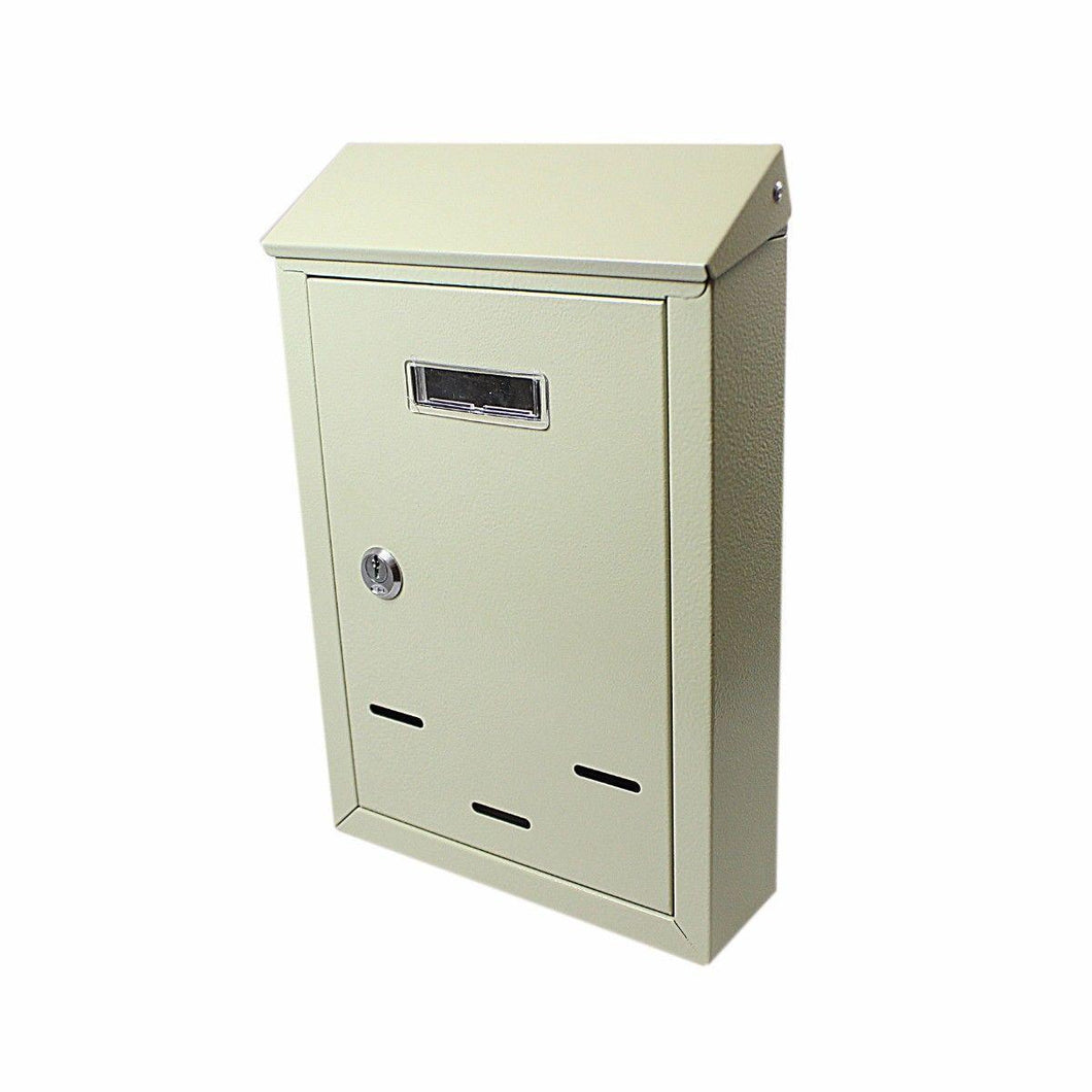 Metal Wall Mountable Lockable Letter Box 300mm x 200mm x 65mm Home 2296 (Parcel Rate)