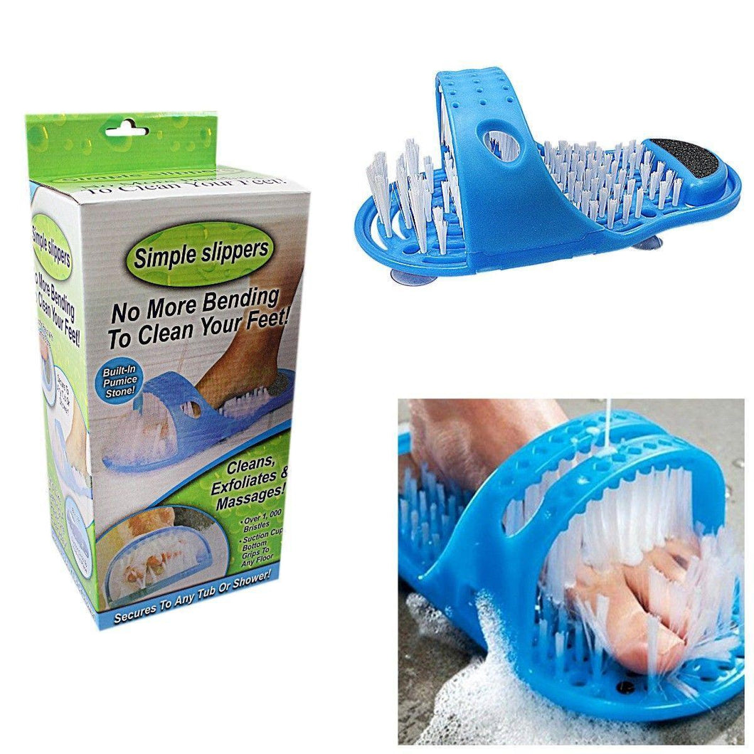 Simple Slippers No More Bending To Clean Your Feet Built In Pumice Stone Health 4510 (Parcel Rate)