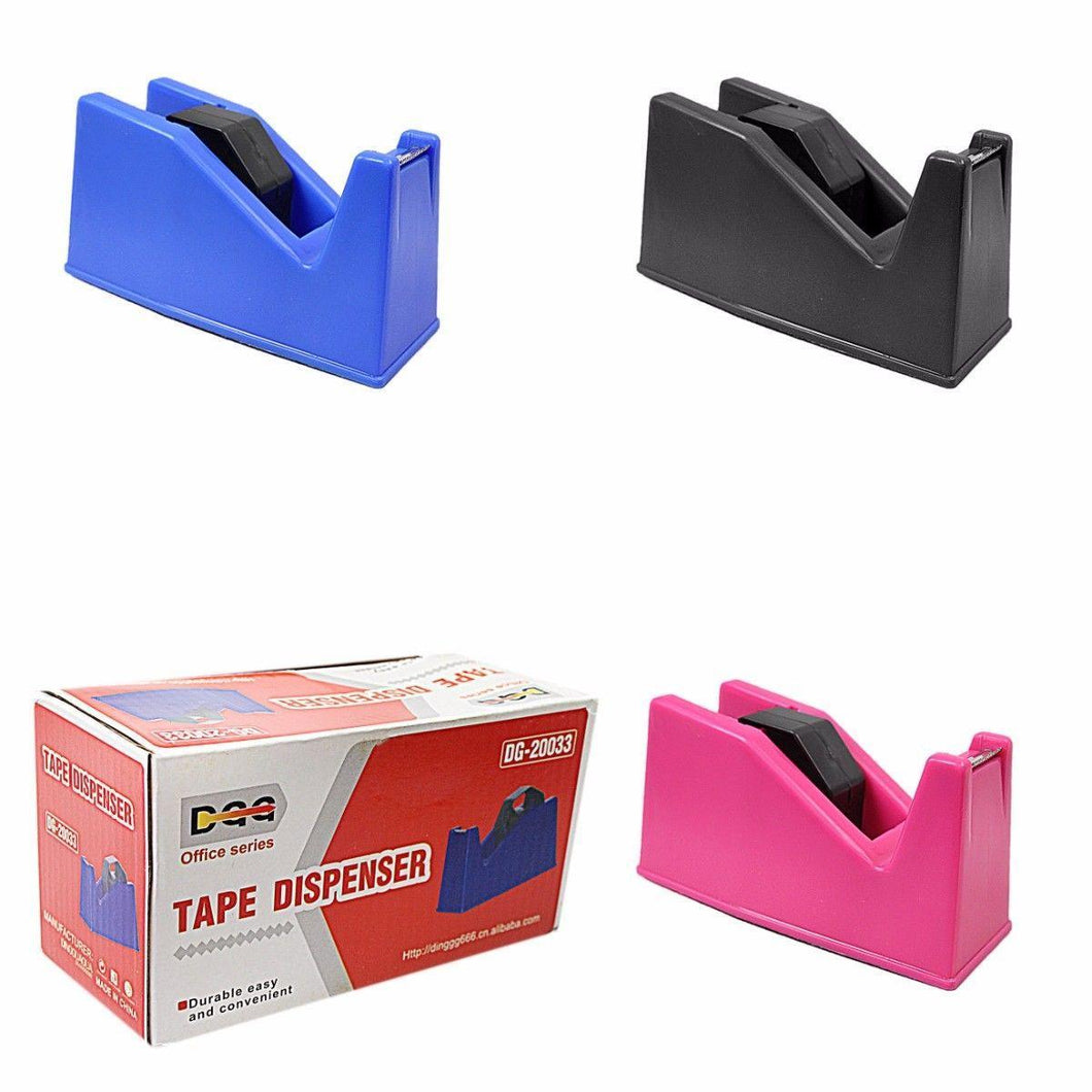 Durable Easy Plastic Tape Dispenser Available In Assorted Colours 15cm Stationery 0006 (Parcel Rate)