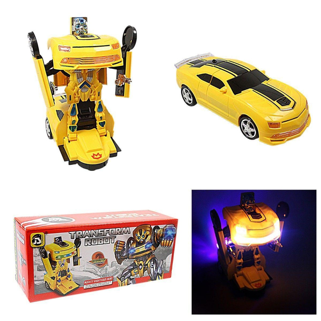 Transform Robot Convertible Car With Light & Sound Great Kids Children Gift Toy   4070 (Parcel Rate)