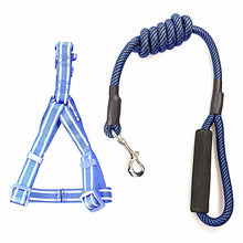 Load image into Gallery viewer, Step-in Reflective Nylon Puppy Dog Harness and Lead Leash Safety for Dogs  4266 (Large Letter Rate)