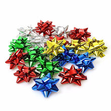 Load image into Gallery viewer, 5cm Multi Christmas Xmas Matt/Shiny Self Adhesive Present Gift Bows-20 Pack  2712 (Parcel Rate)