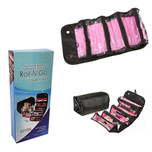 Roll-N-Go Makeup Case COSMETIC BAG Roll Up Travel Pouch Smart Toiletry Bag   4087 (Large Letter Rate)