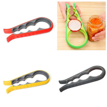 Load image into Gallery viewer, Multi-Use Bottle Opener Plastic 4 Size Bottle Opener In Assorted Colours Kitchen 3239 (Large Letter Rate)