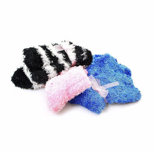 Furry Fuzzy Slipper Type Socks Soft Gentle Assorted Colour One Size 6208 (Large Letter Rate)