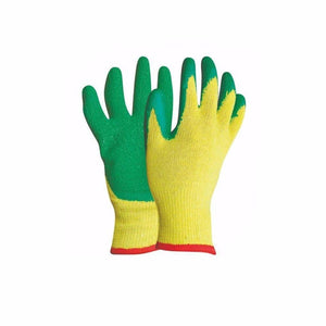 Work Gloves Safety Personal Protect Gloves 1 Pair Yellow Green 0780 (Large Letter Rate)
