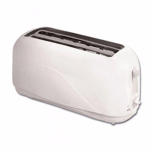 New Fine Elements 2 Slice Long Bread Toaster Pure White 1300W  0077