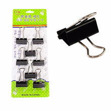 Load image into Gallery viewer, Pack of 8 Board Clips Black Office Supply 3cm Clips   3463 (Large Letter Rate)